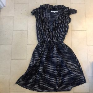 Collective Concepts Frilly Navy Polka Dot Dress